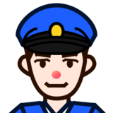 Police Officer: Light Skin Tone on emojidex 1.0.24