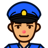 Police Officer: Medium Skin Tone on emojidex 1.0.24