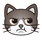 Pouting Cat Face on emojidex 1.0.24