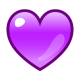 Purple Heart on emojidex 1.0.24