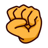 Raised Fist on emojidex 1.0.24