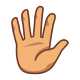 Hand with Fingers Splayed: Medium Skin Tone on emojidex 1.0.24