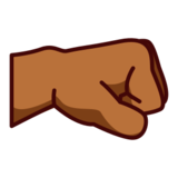 Right-Facing Fist: Medium-Dark Skin Tone on emojidex 1.0.24