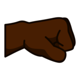 Right-Facing Fist: Dark Skin Tone on emojidex 1.0.24
