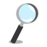 Magnifying Glass Tilted Right on emojidex 1.0.24