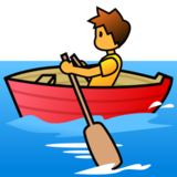 Person Rowing Boat on emojidex 1.0.24