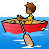 Person Rowing Boat: Medium-Dark Skin Tone on emojidex 1.0.24