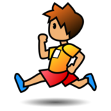 Person Running: Medium Skin Tone on emojidex 1.0.24