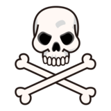 Skull and Crossbones on emojidex 1.0.24