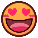 Smiling Face with Heart-Eyes on emojidex 1.0.24