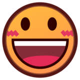 Grinning Face With Big Eyes on emojidex 1.0.24