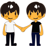 Men Holding Hands on emojidex 1.0.24