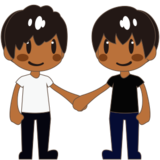 Men Holding Hands: Medium-Dark Skin Tone on emojidex 1.0.24