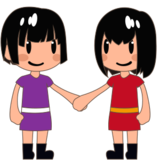 Women Holding Hands: Medium-Light Skin Tone on emojidex 1.0.24