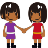 Women Holding Hands: Medium-Dark Skin Tone on emojidex 1.0.24