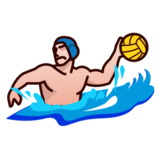 Person Playing Water Polo: Medium-Light Skin Tone on emojidex 1.0.24