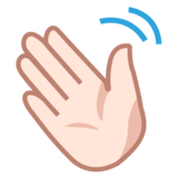 Waving Hand: Light Skin Tone on emojidex 1.0.24