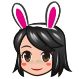 Woman With Bunny Ears, Type-3 on emojidex 1.0.24