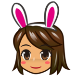 Woman With Bunny Ears, Type-4 on emojidex 1.0.24