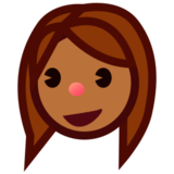Woman: Medium-Dark Skin Tone on emojidex 1.0.24