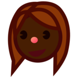 Woman: Dark Skin Tone on emojidex 1.0.24