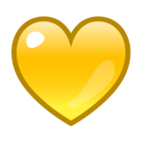 Yellow Heart on emojidex 1.0.24