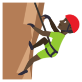 Man Climbing: Dark Skin Tone on JoyPixels 3.1