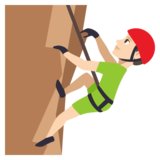 Man Climbing: Light Skin Tone on JoyPixels 3.1