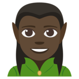 Man Elf: Dark Skin Tone on JoyPixels 3.1