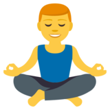 Man in Lotus Position on JoyPixels 3.1