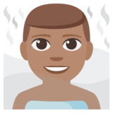 Man in Steamy Room: Medium Skin Tone on JoyPixels 3.1