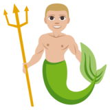 Merman: Medium-Light Skin Tone on JoyPixels 3.1