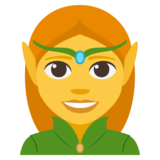 Woman Elf on JoyPixels 3.1