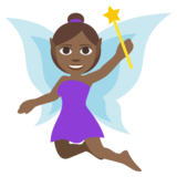 Woman Fairy: Medium-Dark Skin Tone on JoyPixels 3.1