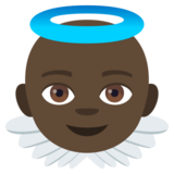 Baby Angel: Dark Skin Tone on JoyPixels 4.0