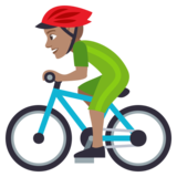 Person Biking: Medium Skin Tone on JoyPixels 4.0