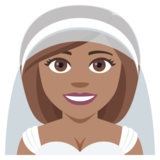 Person With Veil: Medium Skin Tone on JoyPixels 4.0