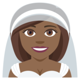 Bride With Veil: Medium-Dark Skin Tone on EmojiOne 4.0