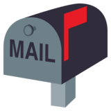 Closed Mailbox With Raised Flag on JoyPixels 4.0