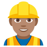 Construction Worker: Medium Skin Tone on JoyPixels 4.0