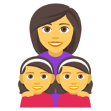 Family: Woman, Girl, Girl on JoyPixels 4.0