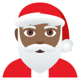 Santa Claus: Medium-Dark Skin Tone on JoyPixels 4.0