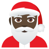 Santa Claus: Dark Skin Tone on JoyPixels 4.0