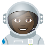 Woman Astronaut: Dark Skin Tone on JoyPixels 4.0