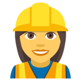 Woman Construction Worker on JoyPixels 4.0