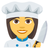Woman Cook on JoyPixels 4.0
