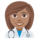 Woman Health Worker: Medium Skin Tone on JoyPixels 4.0