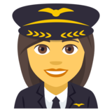 Woman Pilot on JoyPixels 4.0