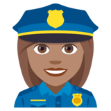 Woman Police Officer: Medium Skin Tone on JoyPixels 4.0