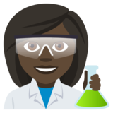 Woman Scientist: Dark Skin Tone on JoyPixels 4.0